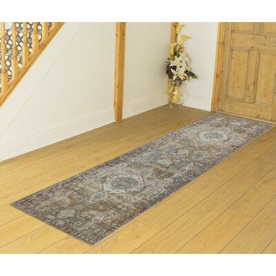 Bungalow Rose Kinslee Gray/Brown Area Rug | Birch Lane