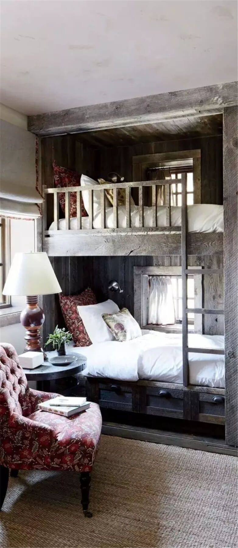 Bunk Beds with a Chair for Reading – a chair like this in the bedroom reading co…