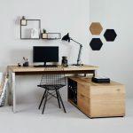 Bureau d'angle Solid Desk 165 - Chêne sauvage / Chrome