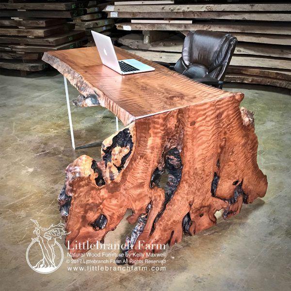 Burl Wood Accent Table | Littlebranch Farm