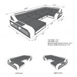 Canapé composable en cuir Houston U Shape - https://pickndecor.com/fr