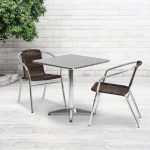 Carnegy Avenue Gray 3-Piece Metal Square Outdoor Bistro Set-CGA-TLH-138386-DA-HD - The Home Depot