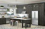 Charcoal Grey Shaker Gebeizte RTA-Küchenschränke Alle Hölzer auf Lager Probe ...