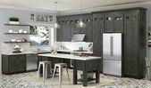 Charcoal Grey Shaker Gebeizte RTA-Küchenschränke Alle Hölzer auf Lager Probe …