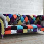 Chesterfield sofa / chromed metal ...