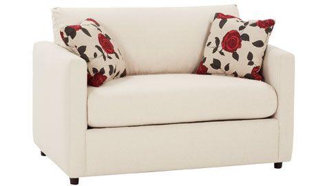 City Fabric Upholstered Loveseat Twin Sleeper – Club Furniture