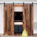 Classic Straight Strap Sliding Standard Double Track Barn Door Hardware Kit