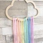 Cloud Wall Hanger, Cloud Decor, Girls Bedroom, Scandi Style Decor, Dreamcatcher ... - It's a Girl