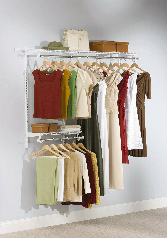 Configuration Closet Kit Cabinet Organizer Shelf Custom Hanging Space 3-6 Feet  …