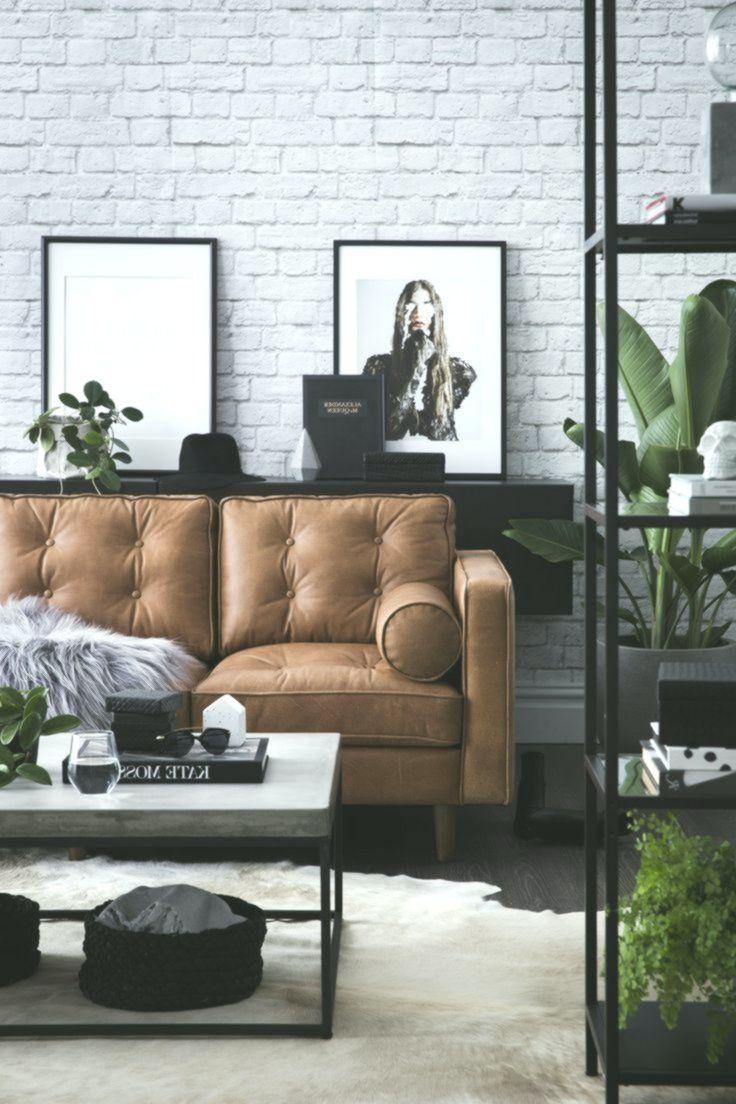Corina Koch Sydney Interior Stylist – braunes Ledersofa, moderne Wohnkultur mit …