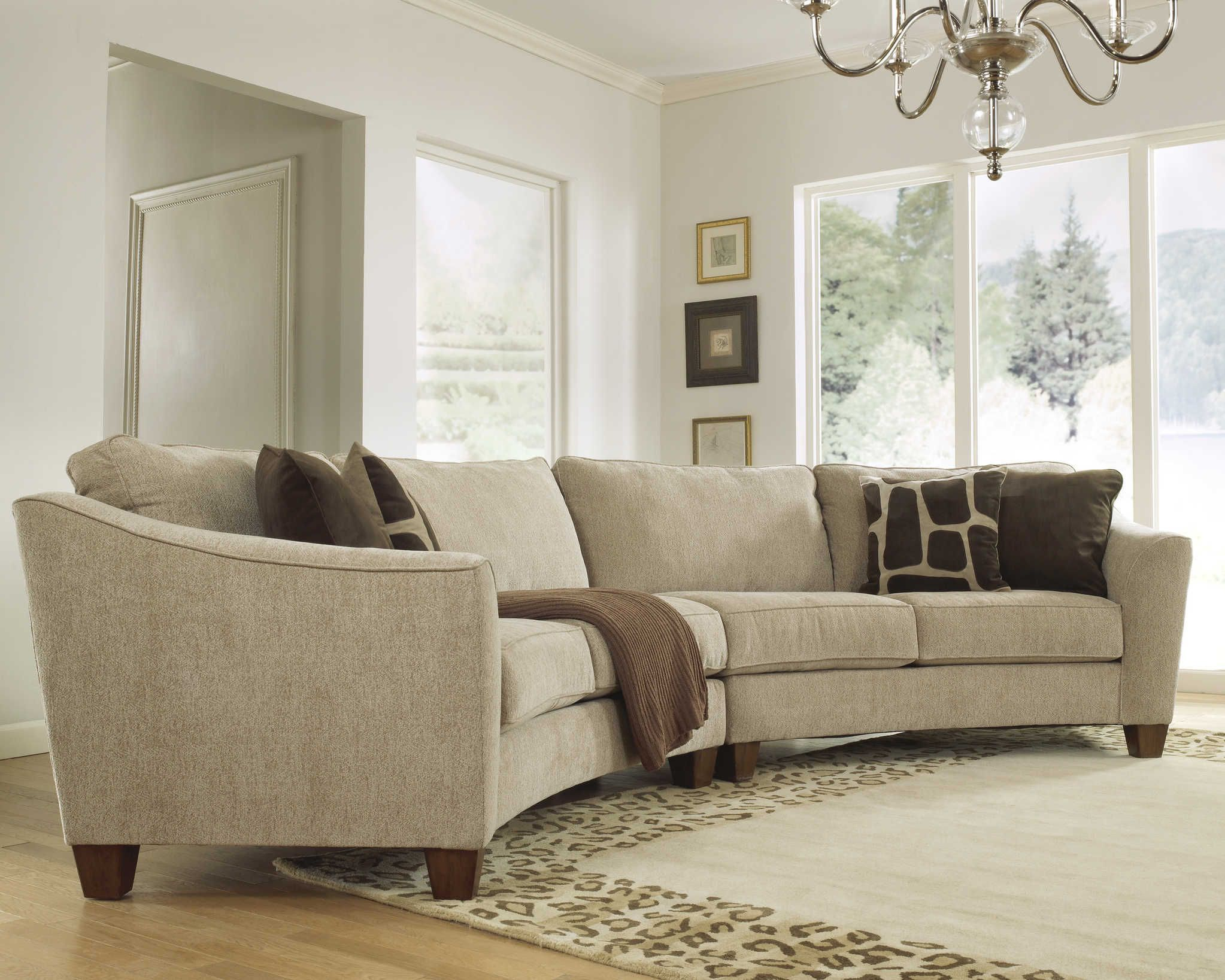 Curved Sectional Sofa Set – Rich Comfortable Upholstered Fabric – Contemporary C… – pickndecor/home