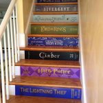 Custom Book Title Decals for stairs * the price is for EACH step riser. ANY title! Just send your book list & measurements to get started!