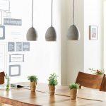 DELIFE Hängeleuchte Cirillo 70×15 Grau 3 Schirme Beton, Hängeleuchten - Home Decor | Dessertpin.com