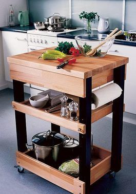 DIY-Anleitung: Küchenwagen mit Rollen selber bauen via DaWanda.com #anleitung #…