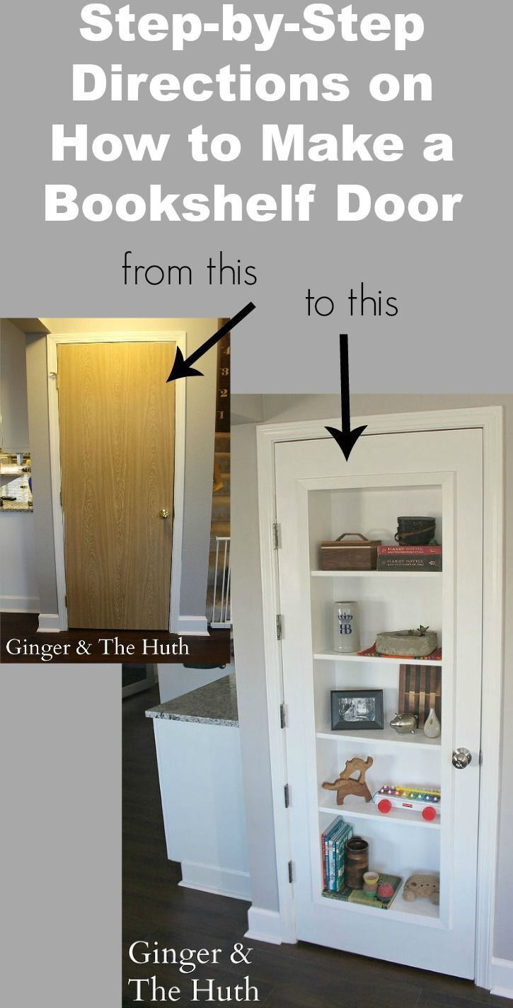 DIY Bookshelf Door