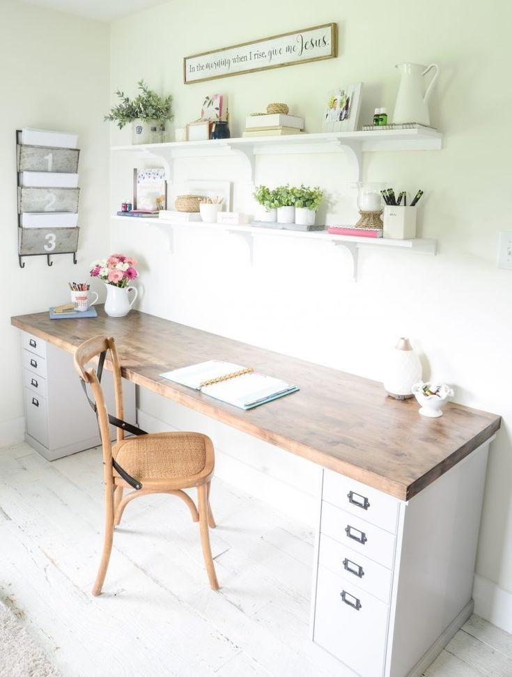 DIY Butcher Block Desk for my Home Office – Beneath My Heart