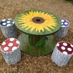 DIY Cable Reel Table - your own designer table - Porch Decorating Ideas