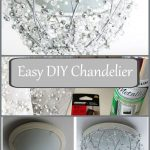 DIY Chandelier From a Hanging Plant Basket