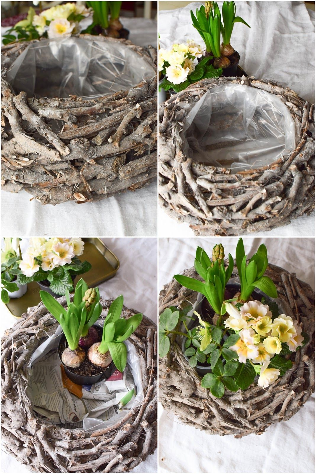 DIY Frühlingskorb: natürlich dekoriert