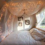 DIY Himmel mit Lichterketten über dem Bett -  - #Genel