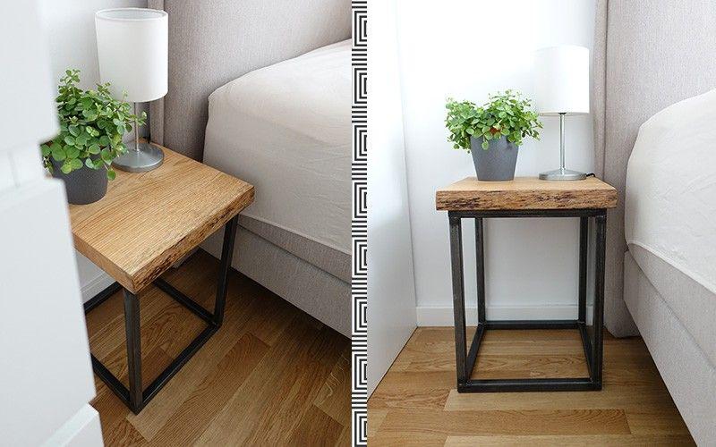 DIY Nachttisch selber bauen aus alten Holzbohlen | CareElite®