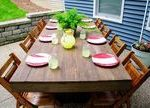 DIY Outdoor Patio Table Tutorial- DIY Outdoor Patio Table Tutorial  Outdoor Tabl...