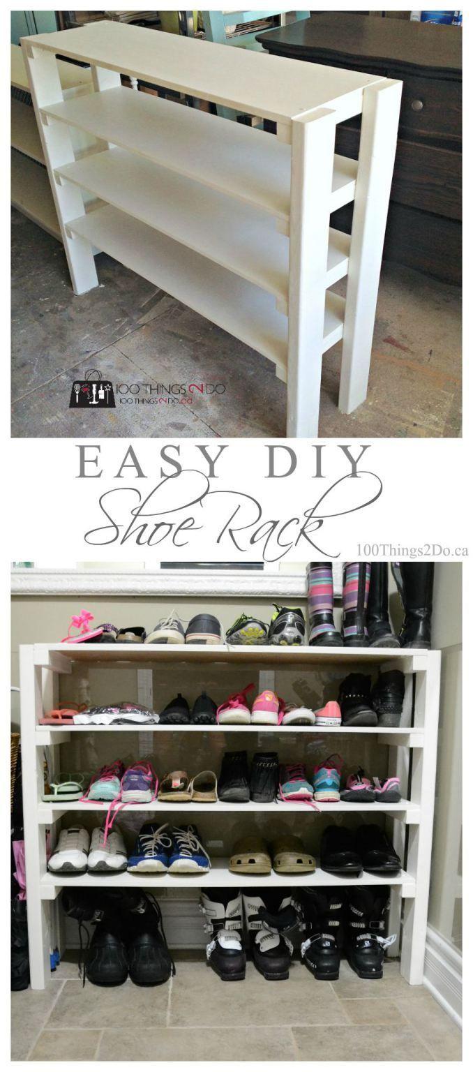 DIY Shoe Rack | 100 Things 2 Do