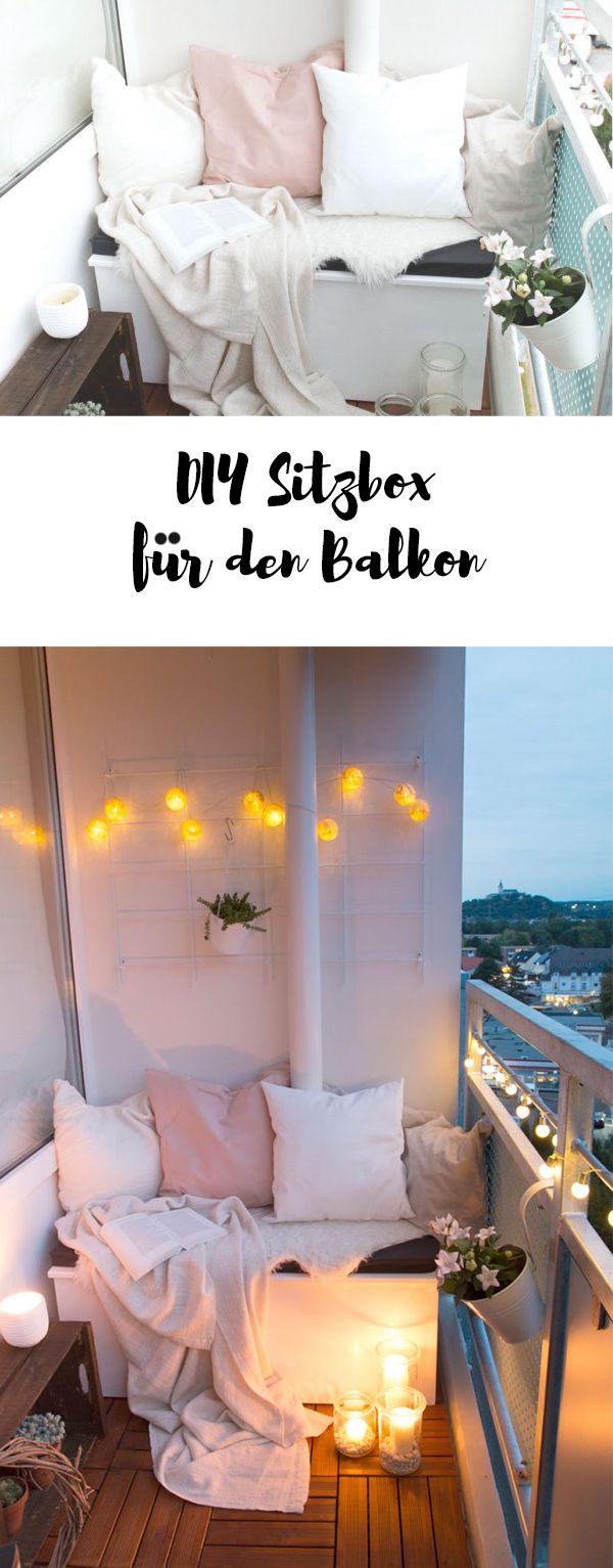 DIY Sitzbox & Tipps für einen gemütlichen Balkon | ars textura – DIY Blog