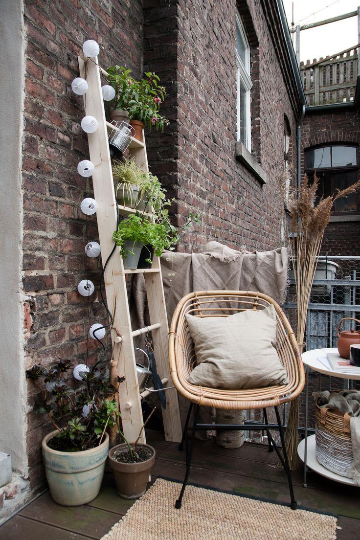 DIY-växtstege för den lilla stadsbalkongen – https://pickndecor.com/mobel