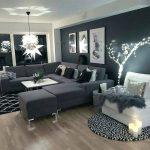 Dark Living Room Brown - Schwarze Wohnzimmer Ideen wall kombinieren braun dunkel...