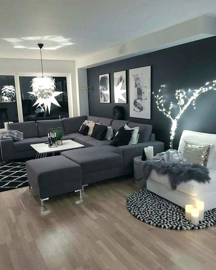 Dark Living Room Brown – Schwarze Wohnzimmer Ideen wall kombinieren braun dunkel…