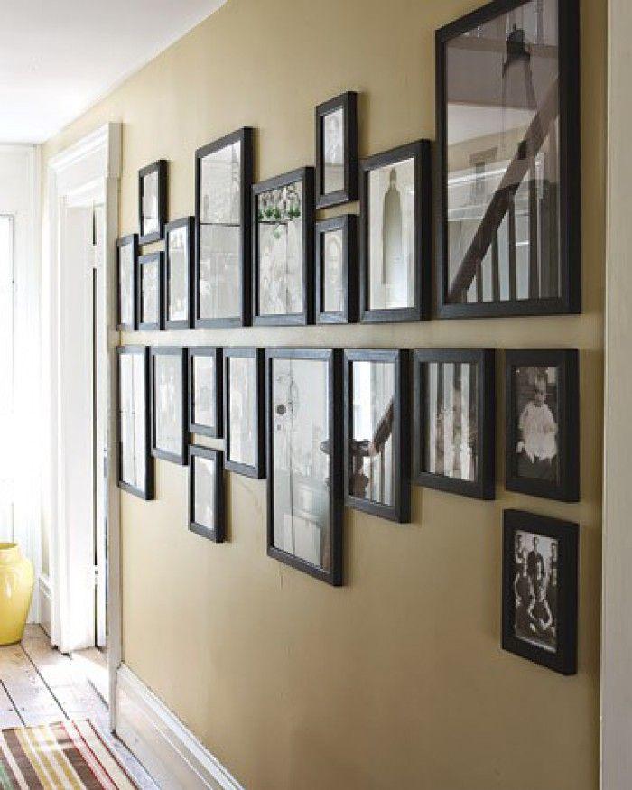 Das ist eine tolle Wandgestaltungs-Idee für unsere kahle Wand im Wohnzimmer. Du…