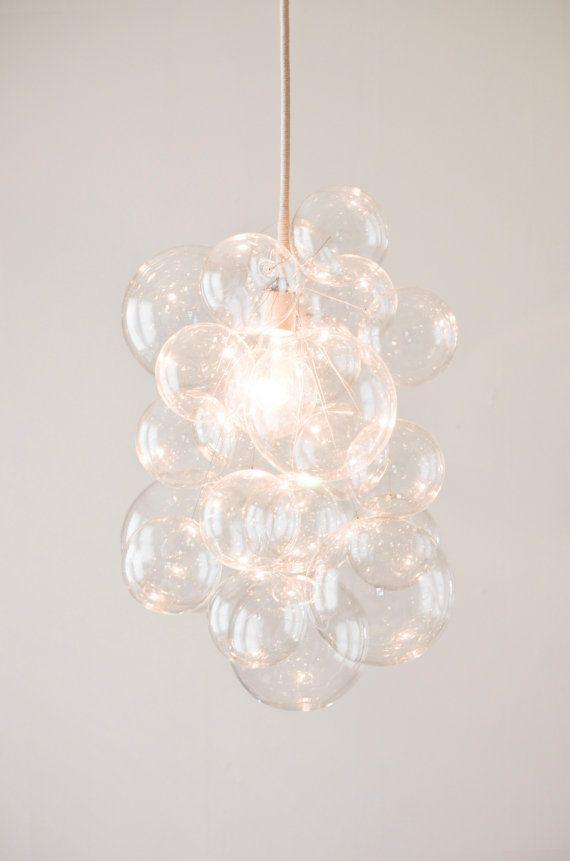 "De 31 Bubble kroonluchter (22 ""diameter) • aangepaste kroonluchter • LED verlichting • eetkamer kroonluchter • plafond lamp • Bubble Light"
