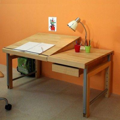 De Breuyn ZIGGY Schreibtisch, geteilte Tischplatte