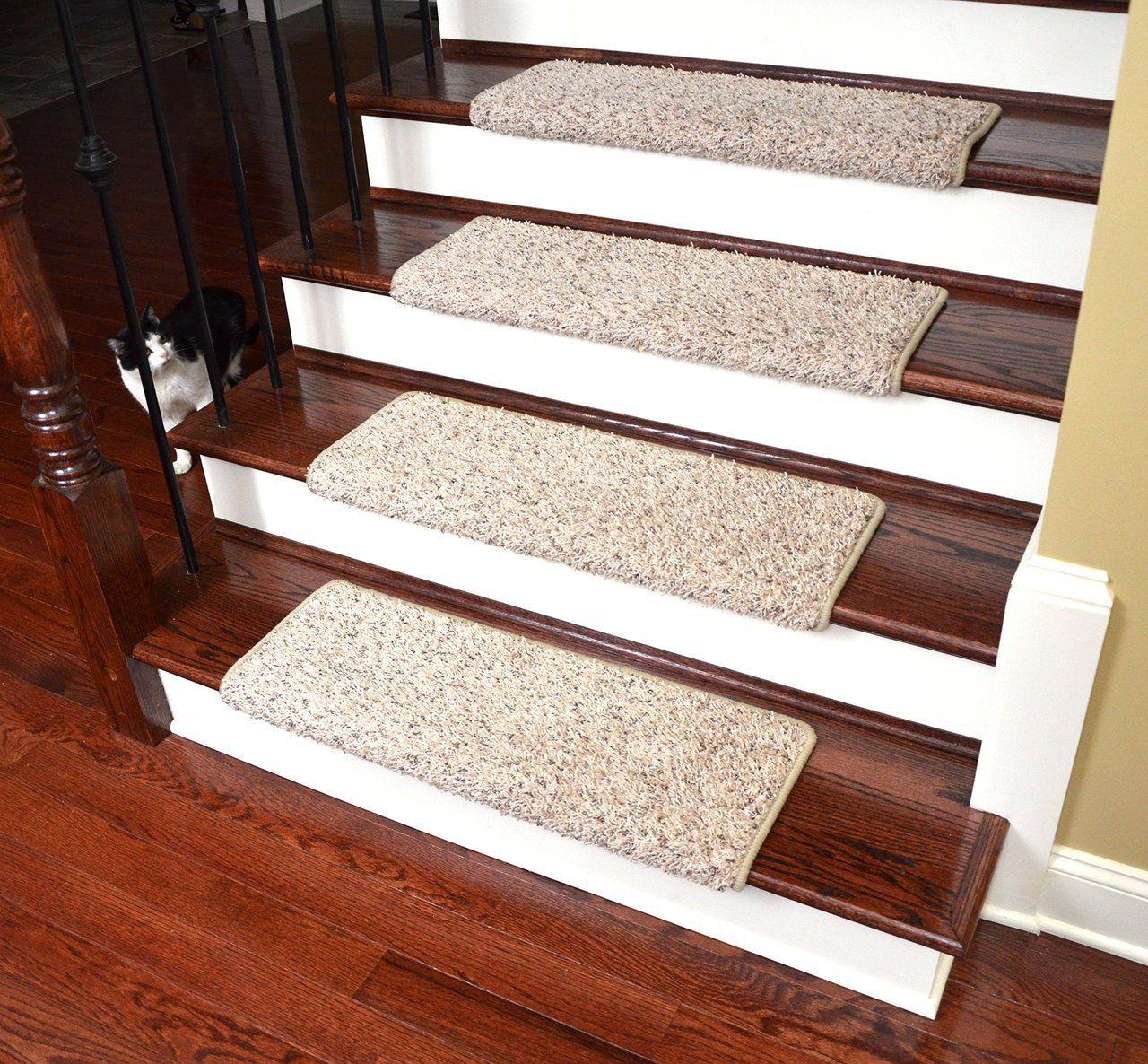 Dean Modern DIY Premium Tape Free Pet Friendly Bullnose Non-Skid Carpet Stair Treads/Runner Rugs – Westin Fleck 31″W (15) Plus a Matching 2′ x 3′ Landing Mat