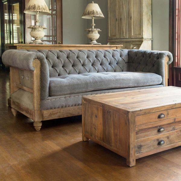 Deconstructed Chesterfield Couch