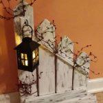 Décoration d'intérieur rustique, palissade, lanterne, bougeoir, vendu individuellement ou ensemble, lanterne bougeoir clôture, décor de pays - Wood Design