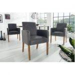 Design Armlehnen Stuhl Valentino grau Massivholzbeine Riess AmbienteRiess Ambiente