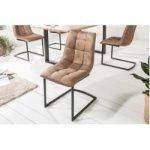 Design Freischwinger Stuhl Miami taupe braun Metallgestell matt schwarz Riess AmbienteRiess Ambiente