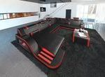 Design Schnittsofa Detroit LED XL Shape   - black projects - #black #Design #Det...