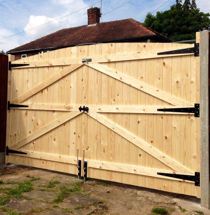 """Détails sur les portes en bois des portes lourdes portes !! 6FT HAUT 7FT 6 """"DE LARGE (3FT 9"""" CHAQUE PORTAIL) – Wood Design"""
