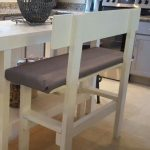 Diy bench counter height.  From wood bought and cut by Lowes.   Those guys love ...