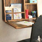 Drop Down Secretaria Desk - Montado en la pared - Escritorio para espacios pequeños - Escritorio de la oficina de la oficina de la oficina de la oficina de la oficina del secretario