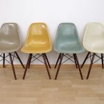 Eames Chairs Vitra | taupe yellow blue cream. Love the color combination #EamesC...