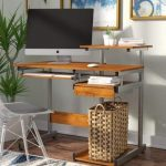 Ebern Designs Velia Compact Computer Desk with Hutch | Wayfair