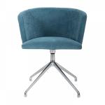 Ein einfacher, moderner und komfortabler Drehstuhl mit einer attraktiven halbrun...