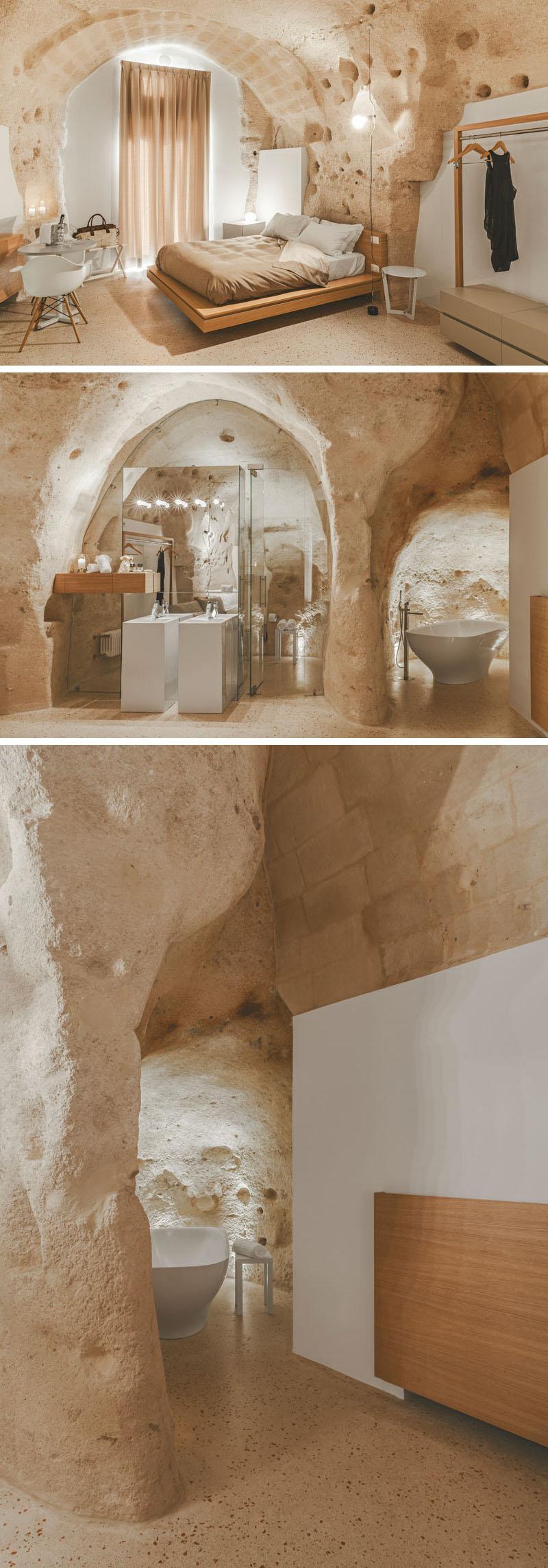 Ein modernes Interieur wurde in diesem historischen Gebäude in Italien gebaut