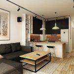Ein modernes Wohnzimmer mit dunklem Sofa – 55 Einrichtungsideen - Neu Haus Designs