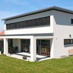 Einfamilienhaus, Nenzing, Flachdach mit Vordach, überdachte Terrasse, - New Ideas
