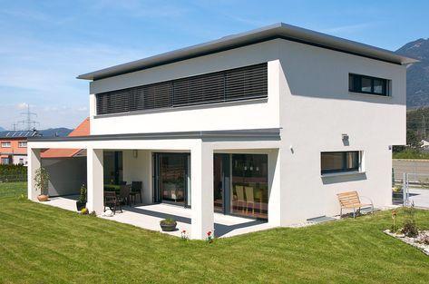 Einfamilienhaus, Nenzing, Flachdach mit Vordach, überdachte Terrasse, – New Ideas